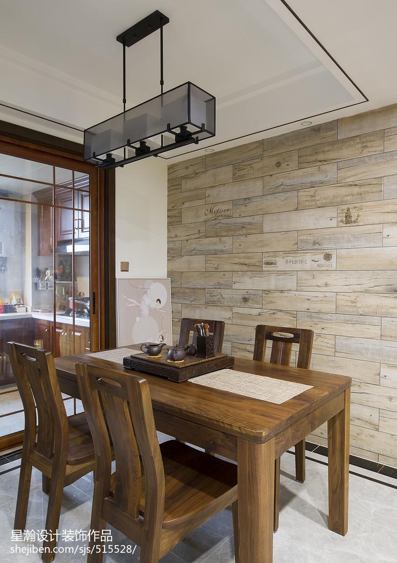 精选面积98平中式三居餐厅装修设计效果图片欣赏