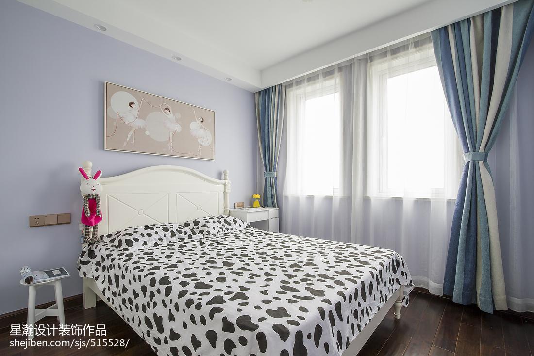 精美97平米三居卧室中式设计效果图