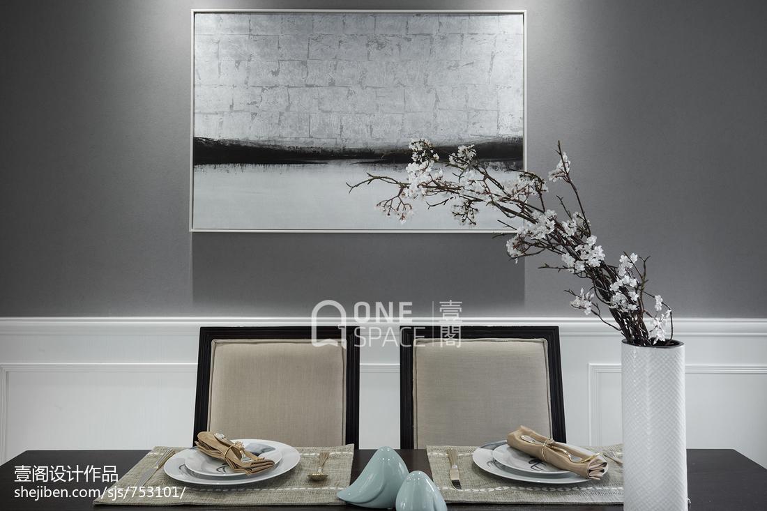 质朴89平美式二居餐厅装修美图