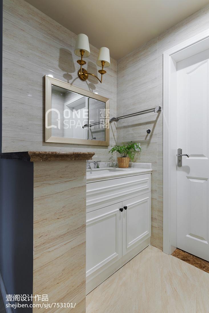 精美面积71平美式二居卫生间装修效果图片