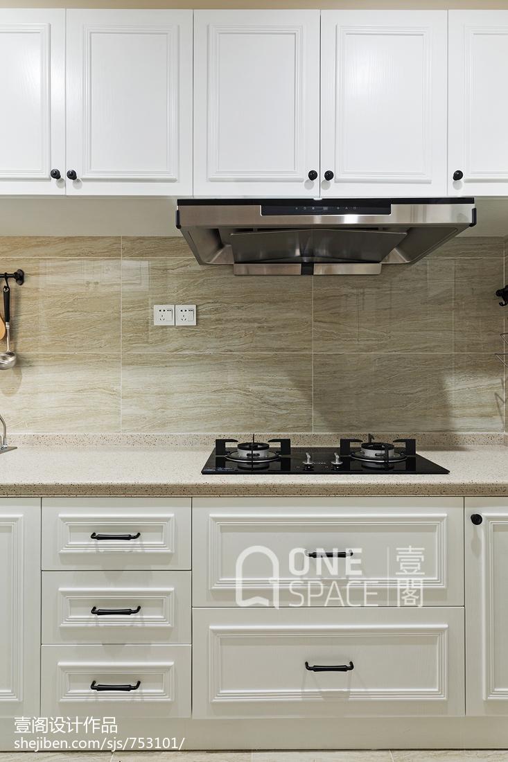2018精选90平米二居厨房美式装饰图