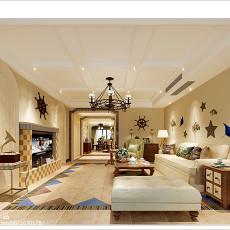 精美二居客厅美式装修实景图片大全