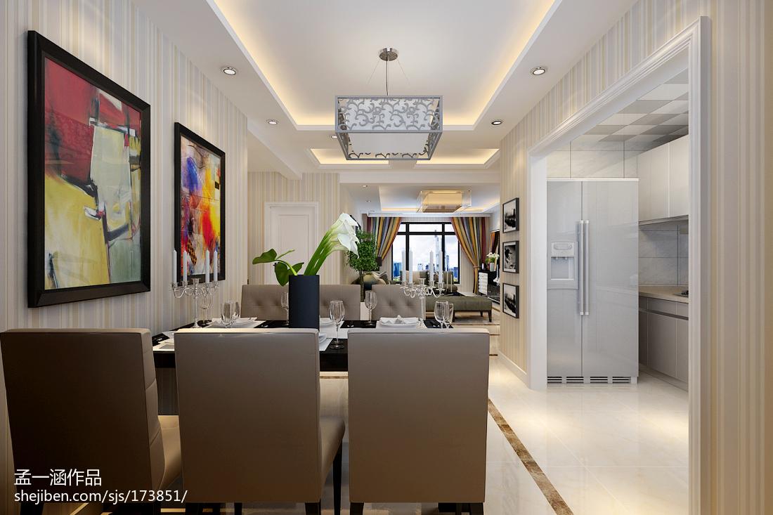 中式现代隔断室内家装效果图