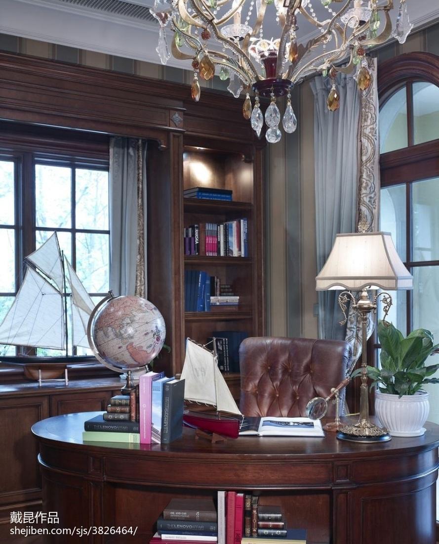 精美116平米欧式别墅书房装修实景图片大全