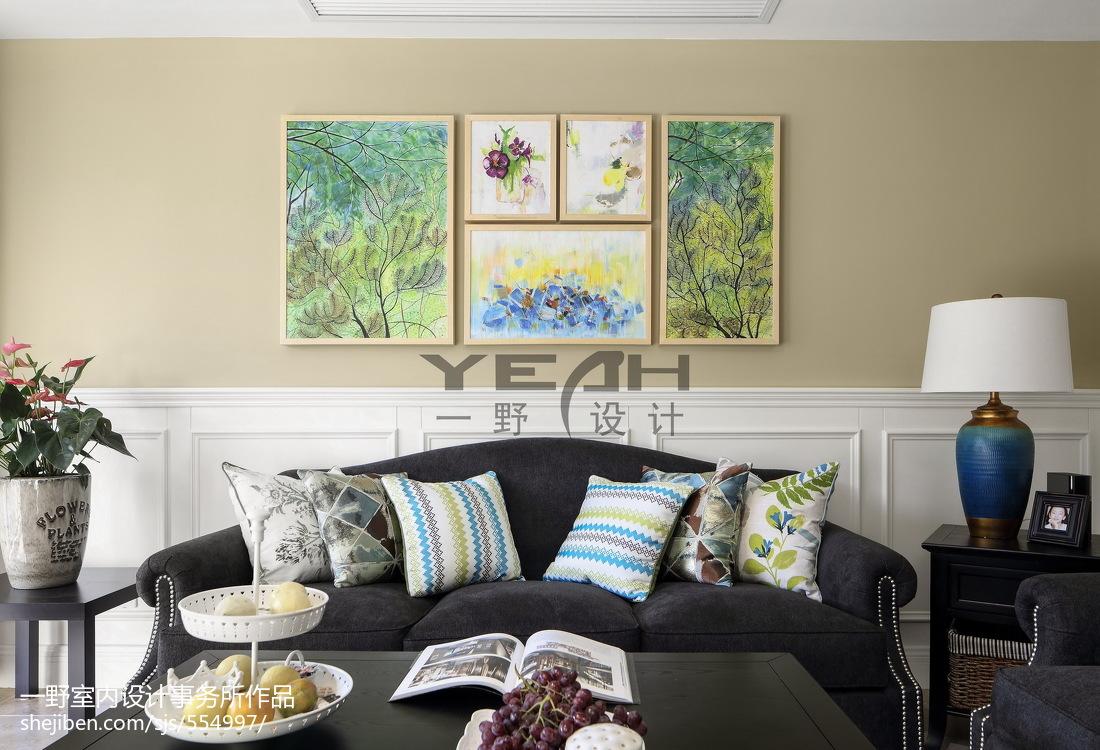 2018精选面积131平复式客厅美式装饰图