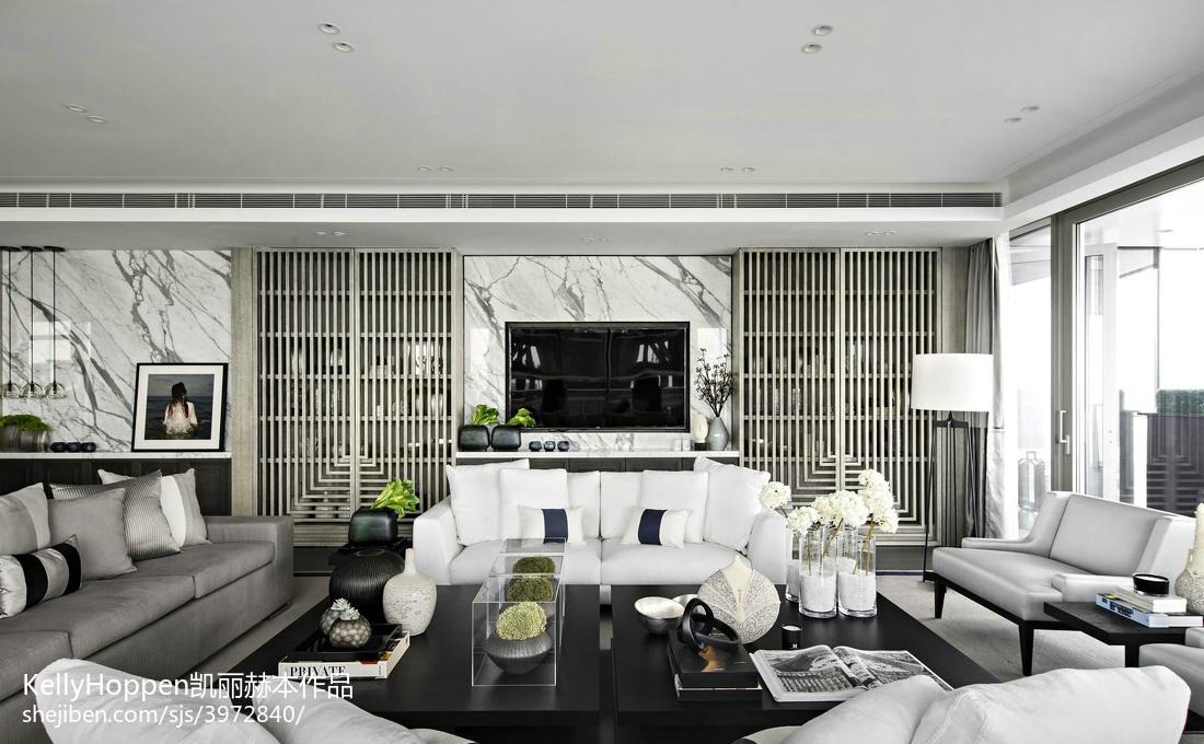 悠雅814平现代别墅客厅设计案例