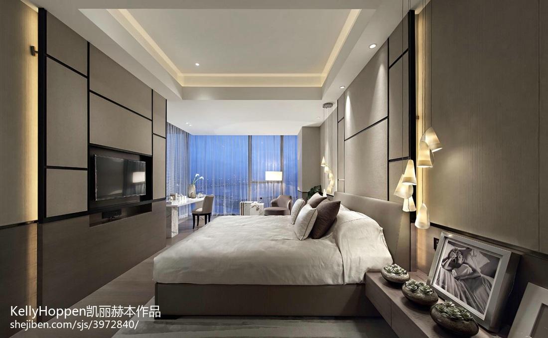 精美面积132平别墅卧室现代实景图片