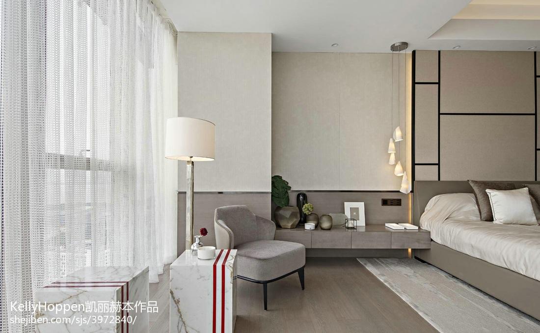 2018精选面积134平别墅卧室现代设计效果图