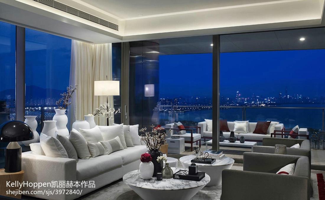 128平米现代别墅客厅装修效果图片欣赏