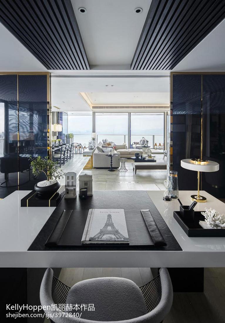 精美面积124平别墅客厅现代装修效果图片欣赏