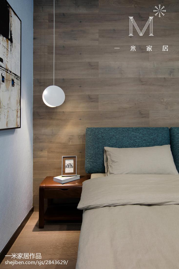 浪漫107平现代三居卧室实景图片