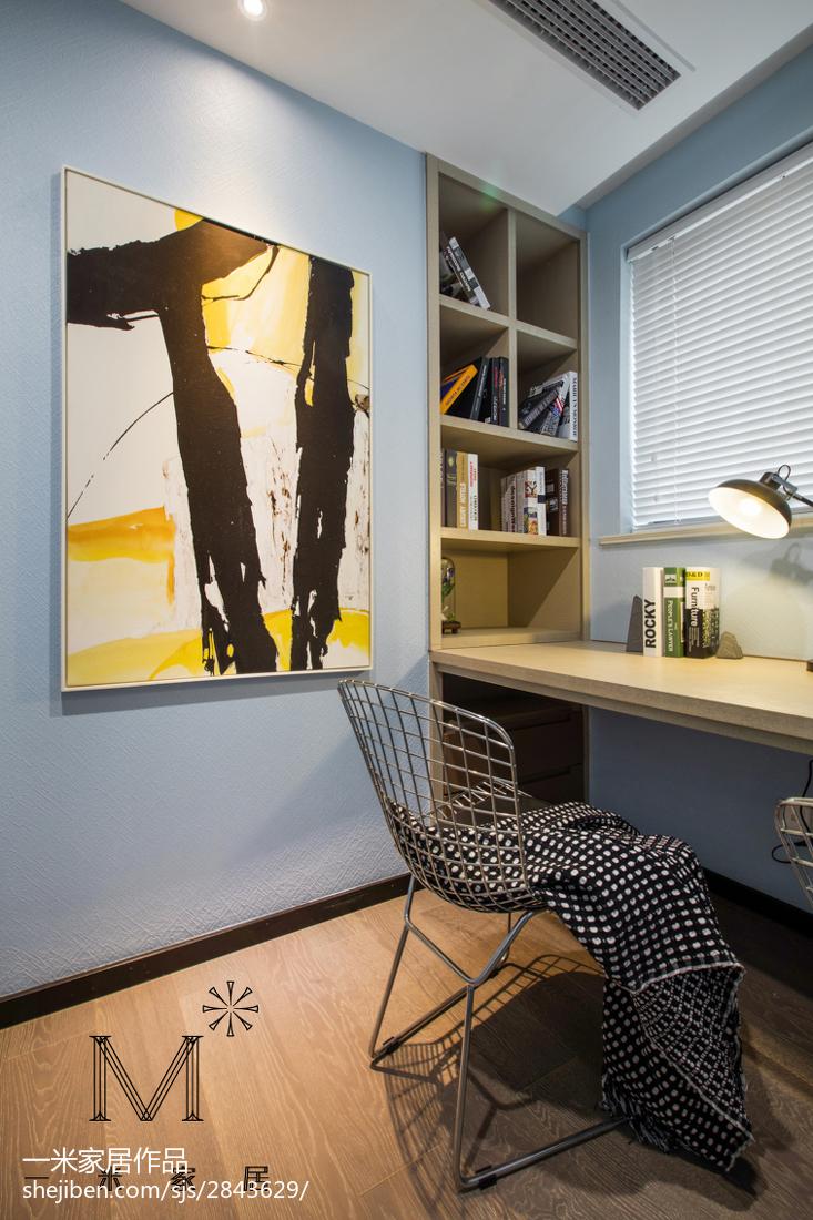 热门90平米三居书房现代欣赏图片大全