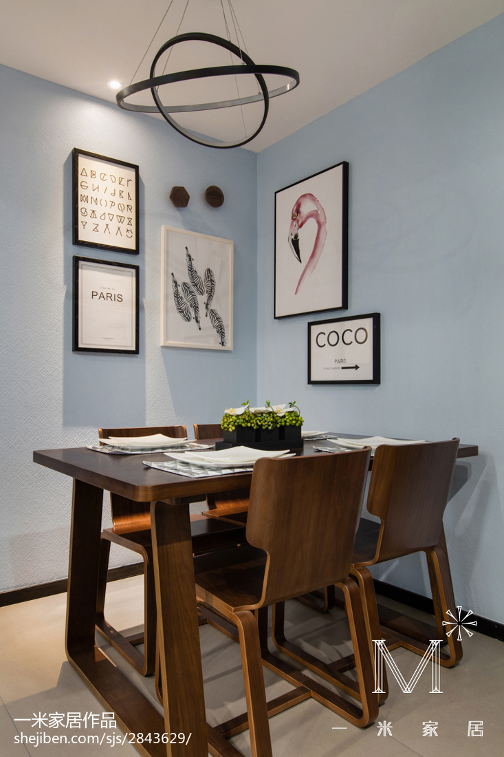 优美78平现代三居装修效果图