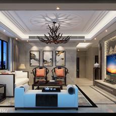 2018精选面积96平中式三居客厅装修实景图片大全
