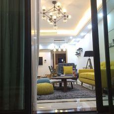 2018宜家三居客厅装修设计效果图片欣赏