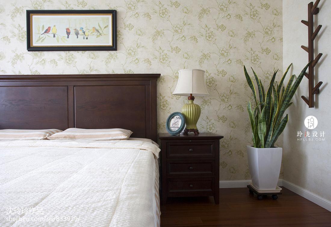 热门复式卧室美式设计效果图