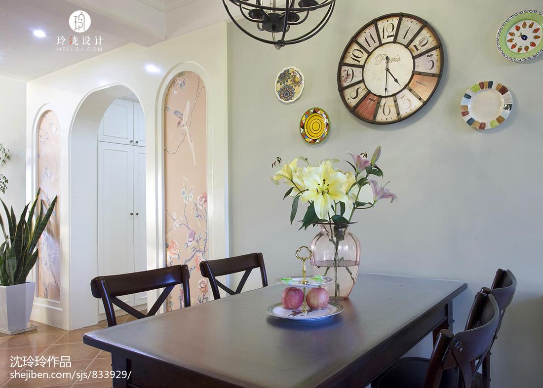 精美130平米美式复式餐厅装修效果图片欣赏