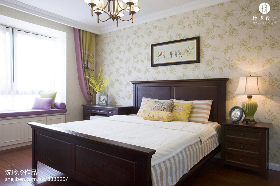 面积126平复式卧室美式装修欣赏图