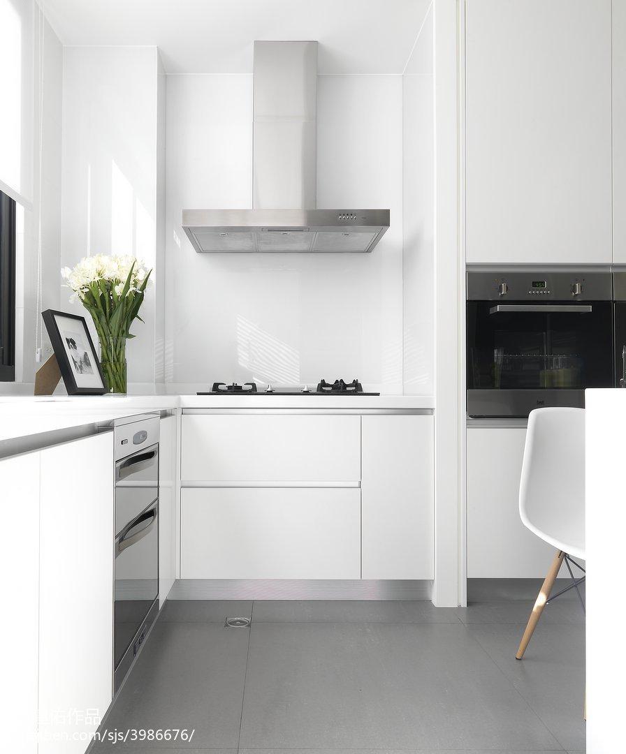 华丽608平现代别墅厨房装饰图