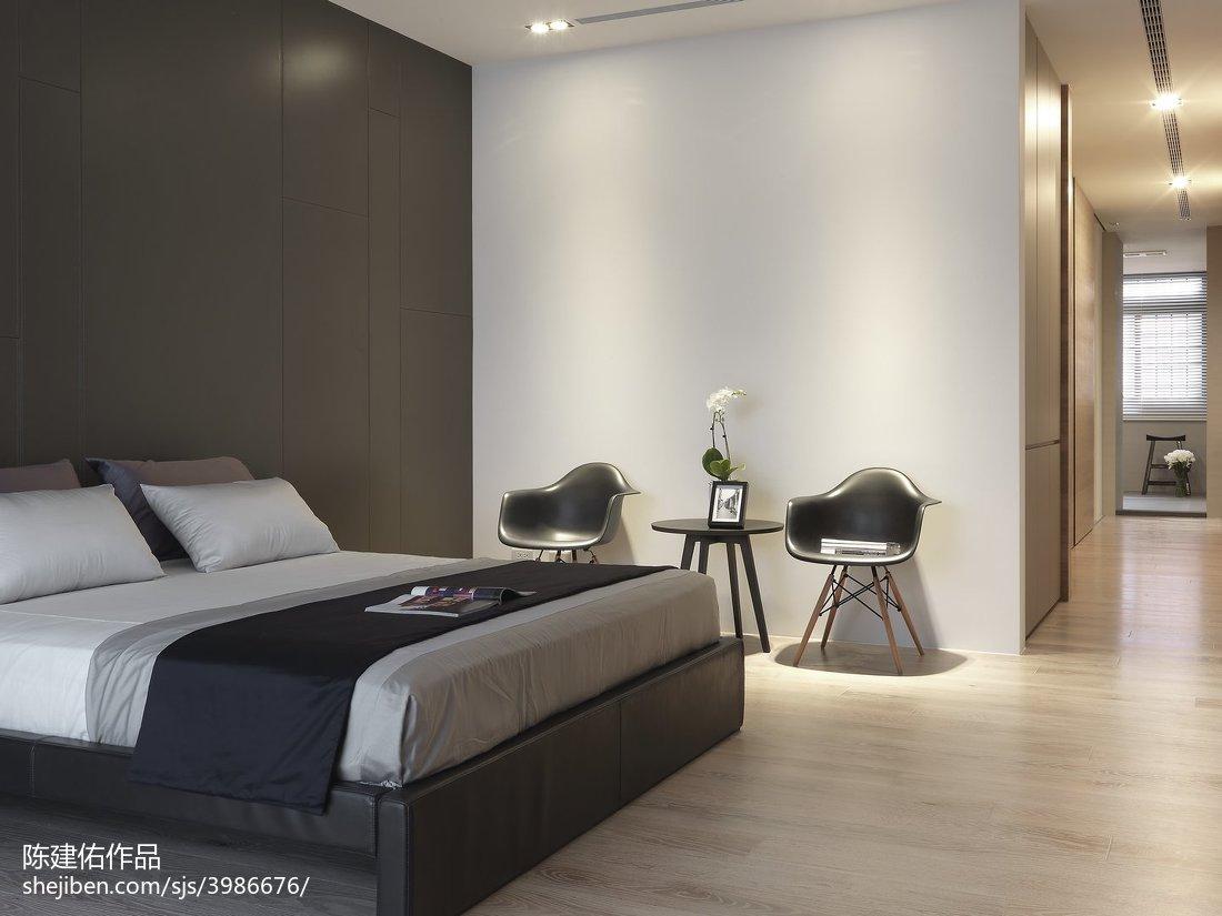 2018精选131平米现代别墅卧室装修实景图片欣赏