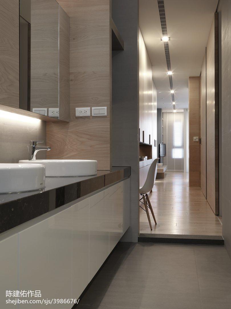 精选125平米现代别墅卫生间设计效果图