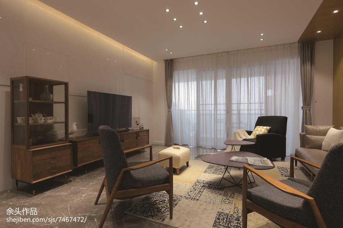 2018129平米现代别墅客厅效果图片大全