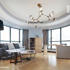 精美108平客厅三居现代装修实景图