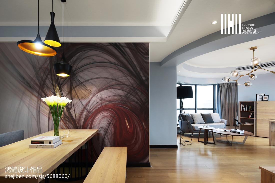 热门102平米三居餐厅现代装修设计效果图片大全