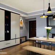 精美面积95平现代三居餐厅装修设计效果图片