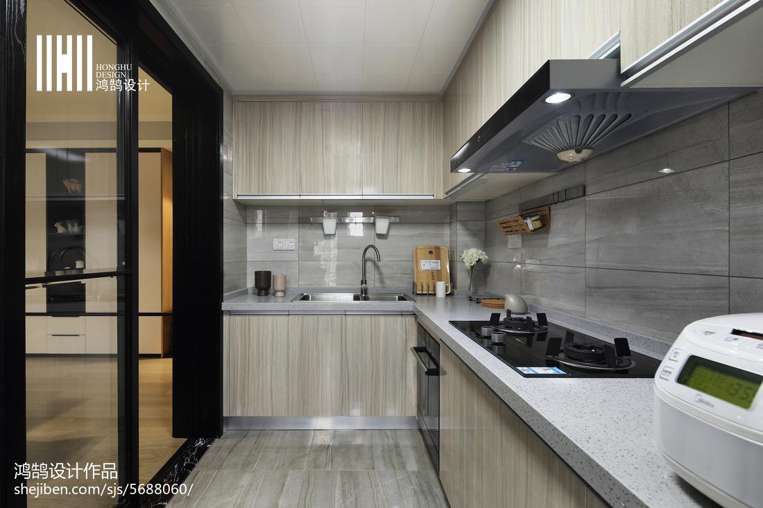 2018109平米三居厨房现代装修图