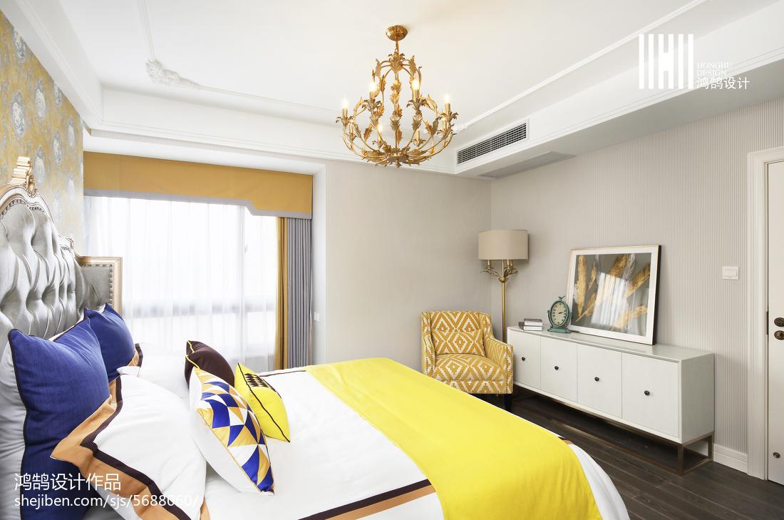 2018精选面积108平混搭三居卧室装修设计效果图片