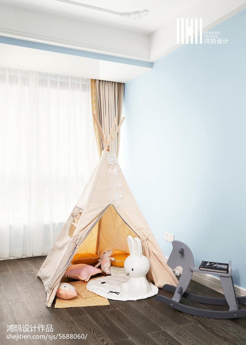 热门面积91平混搭三居儿童房装修图