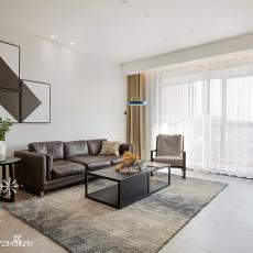 精美大小93平现代三居客厅装修效果图片