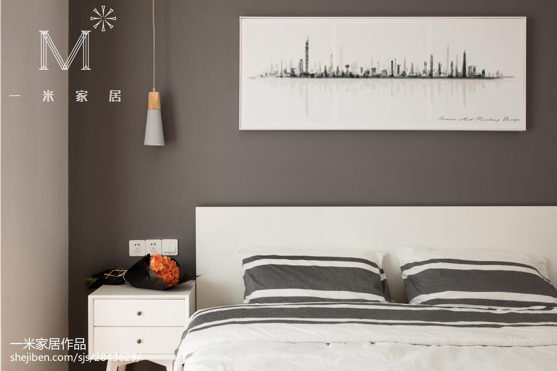2018精选大小103平北欧三居卧室装修图片欣赏