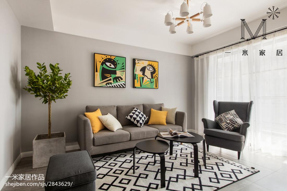 201898平米三居客厅北欧装修欣赏图