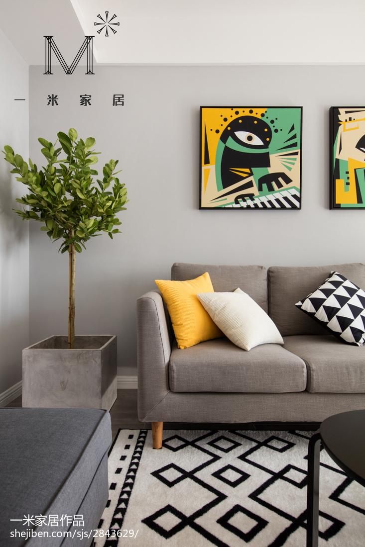 精美面积98平北欧三居客厅装修效果图