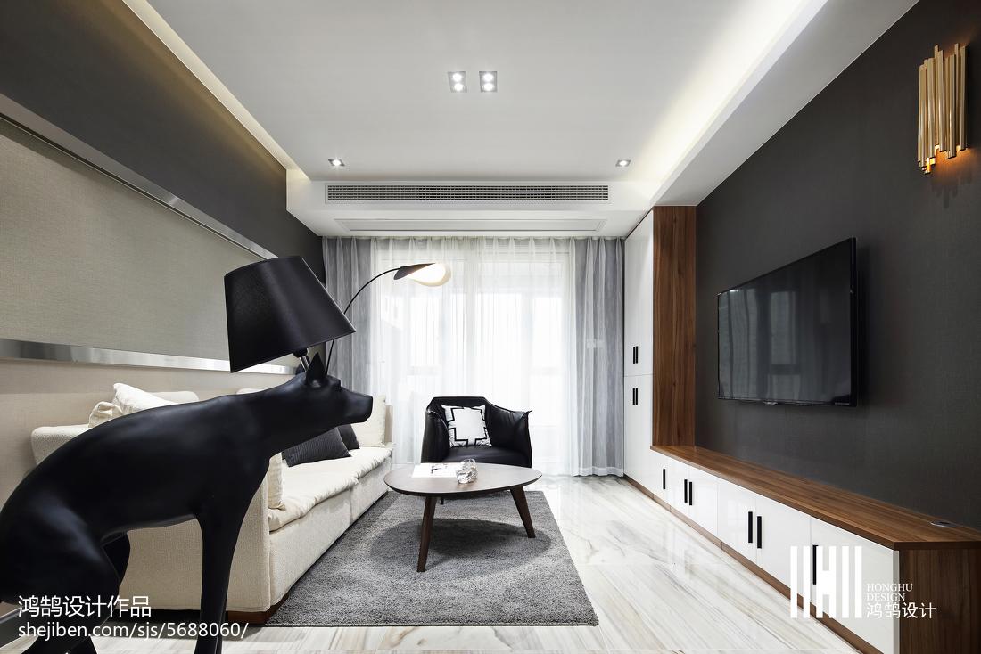 面积85平现代二居客厅装修图片大全