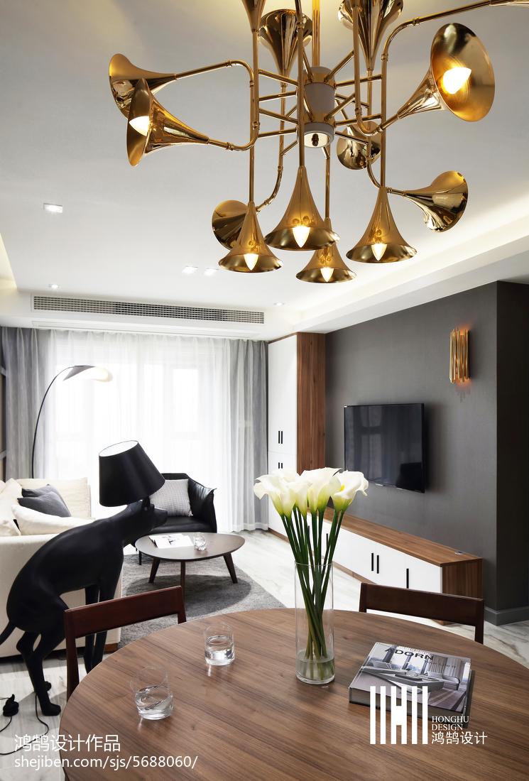87平方二居客厅现代装修效果图片大全