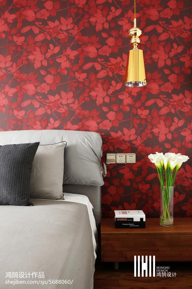 热门大小76平现代二居卧室装饰图片大全