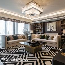2018精选面积133平混搭四居客厅装修实景图