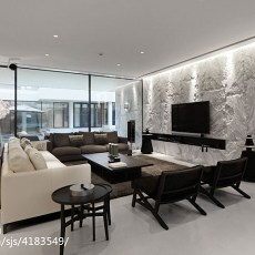 精选141平米现代别墅客厅装修欣赏图片