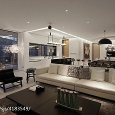 精美面积134平别墅客厅现代装修效果图片