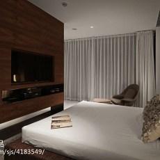 精选115平米现代别墅卧室实景图片大全