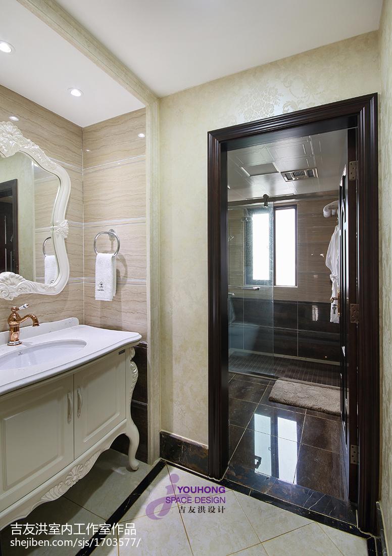 热门新古典三居卫生间实景图片欣赏
