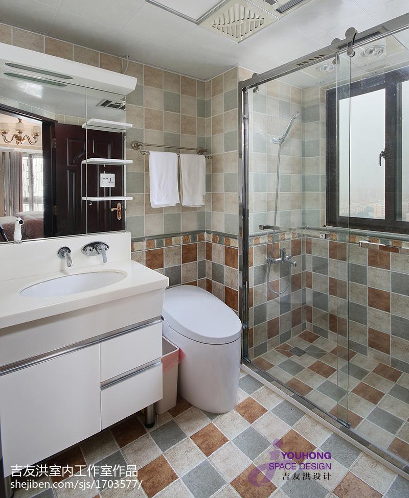 100平米三居卫生间新古典装饰图片
