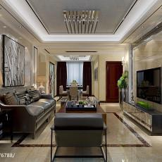 热门108平方三居客厅现代效果图片