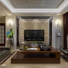 热门107平米三居客厅现代装修图片