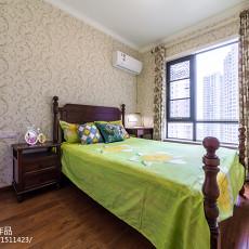 2018精选大小99平美式三居卧室装修设计效果图片