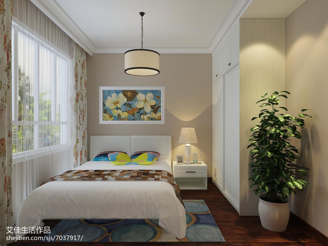 美式大气范小卧室效果图