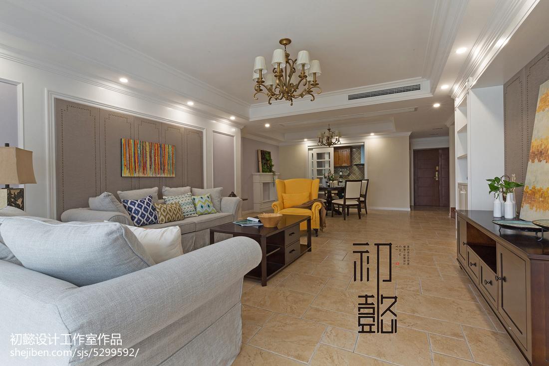 精致213平美式四居客厅装修装饰图